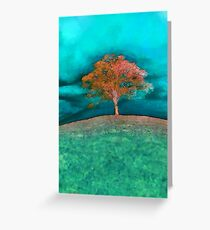 A solitary tree  Greeting Card