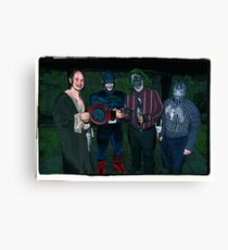 Super Heroes at play! Canvas Print