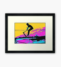 Free Falling - Stunt Scooter Rider Framed Print
