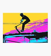 Free Falling - Stunt Scooter Rider Photographic Print
