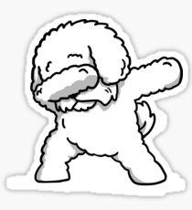Funny Dabbing Bichon Frise Sticker