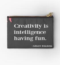 Quote - Creativity is intelligence having fun Studio Pouch