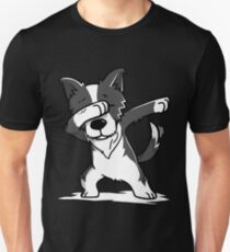 Funny Dabbing Border Collie Unisex T-Shirt