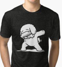 Funny Dabbing Bichon Frise Tri-blend T-Shirt
