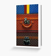 Wallet Goyard Collage Greeting Card