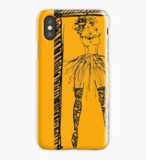 lady in tutu and stockings iPhone Case/Skin