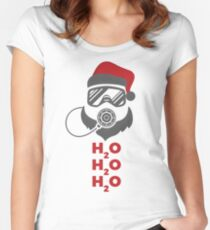H2O Santa Women's Fitted Scoop T-Shirt