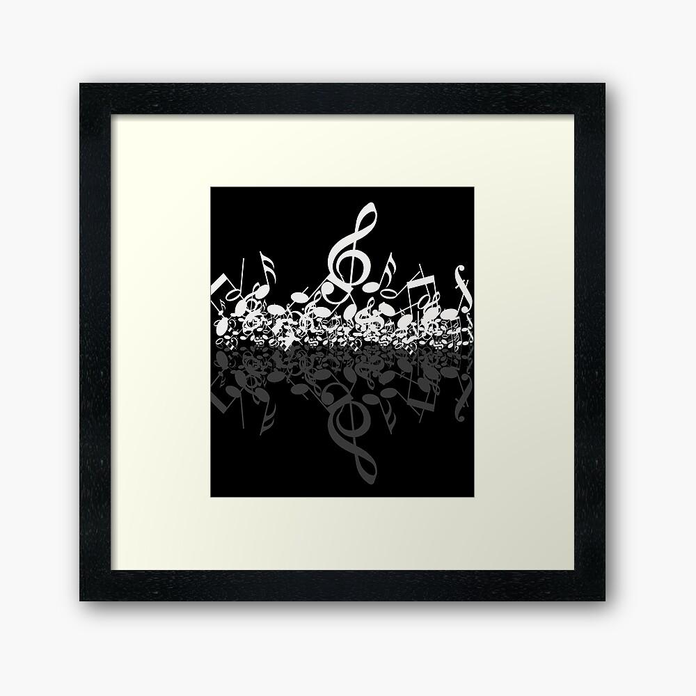 Musical Notes Framed Art Print