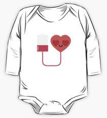 Blood Donation Emoji   One Piece - Long Sleeve