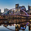 Melbourne City Landscape Reflecting  by Ewan Arnolda