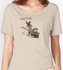 Dustin And Dart Stranger Things 2 Women's Relaxed Fit T-Shirt