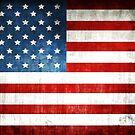 Grunge American flag by Olga Altunina