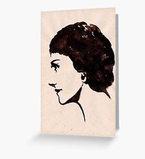 Gabrielle Chanel (Ink on paper) Greeting Card