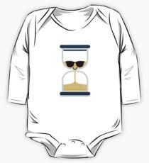 Hour Glass Emoji   One Piece - Long Sleeve