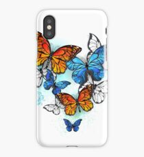 Morpho and Monarchs Butterflies ( Butterfly ) iPhone Case/Skin
