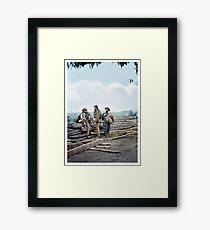 1863 - Confederate prisoners at Seminary ridge during the battle of Gettysburg, Pennsylvania Framed Print