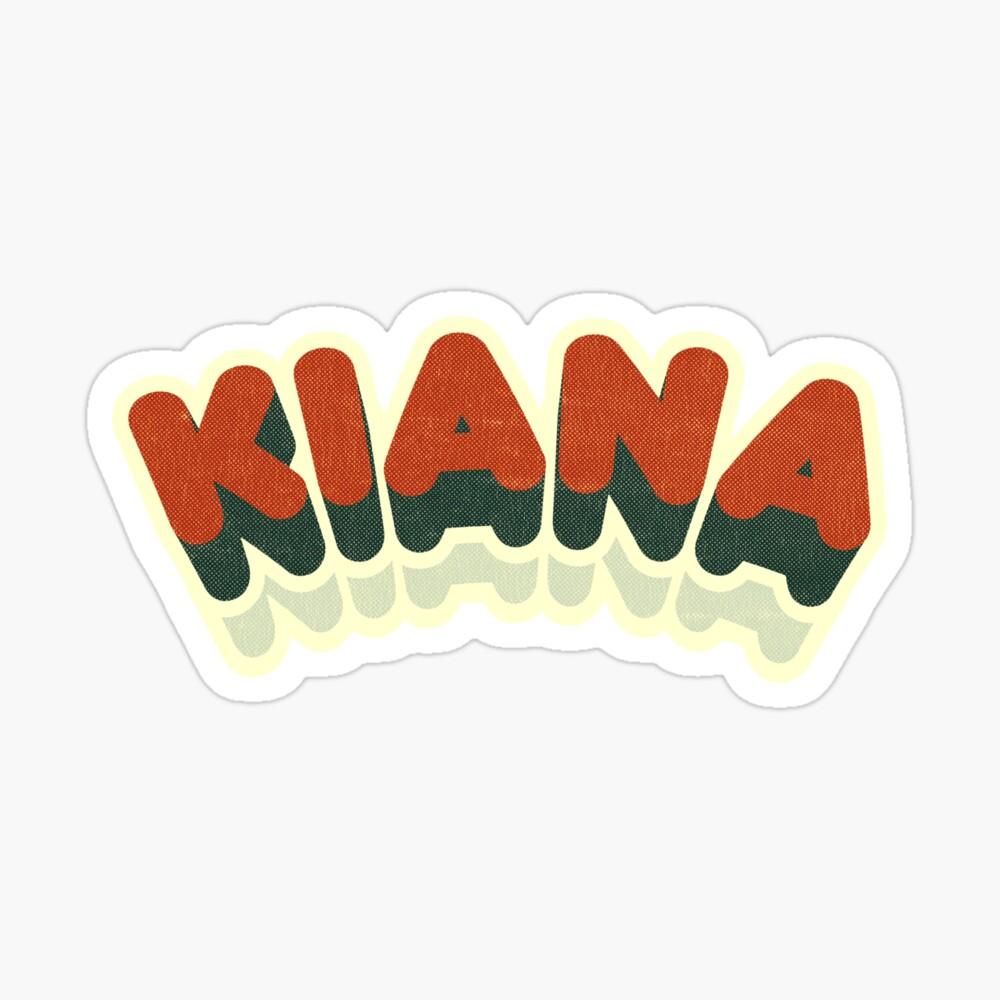 Kiana | Retro Curve Sticker