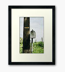 Vintage Mailbox Framed Print