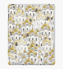 Golden Russian Cathedral Church pattern  iPad Case/Skin
