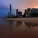 Surfers Paradise In The Late Afternoon. Gold Coast, Australia. by Ralph de Zilva