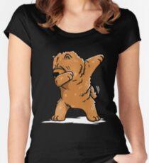 Lustiger tupfender Chow Chow Dog Tailliertes Rundhals-Shirt