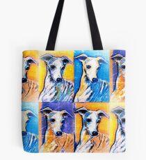 Whippet Pop Art Tote Bag