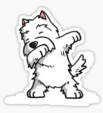 Funny Dabbing West Highland White Terrier Dog Sticker