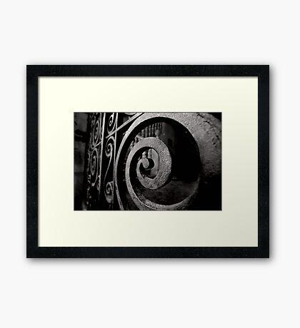 Iron Spiral Framed Print