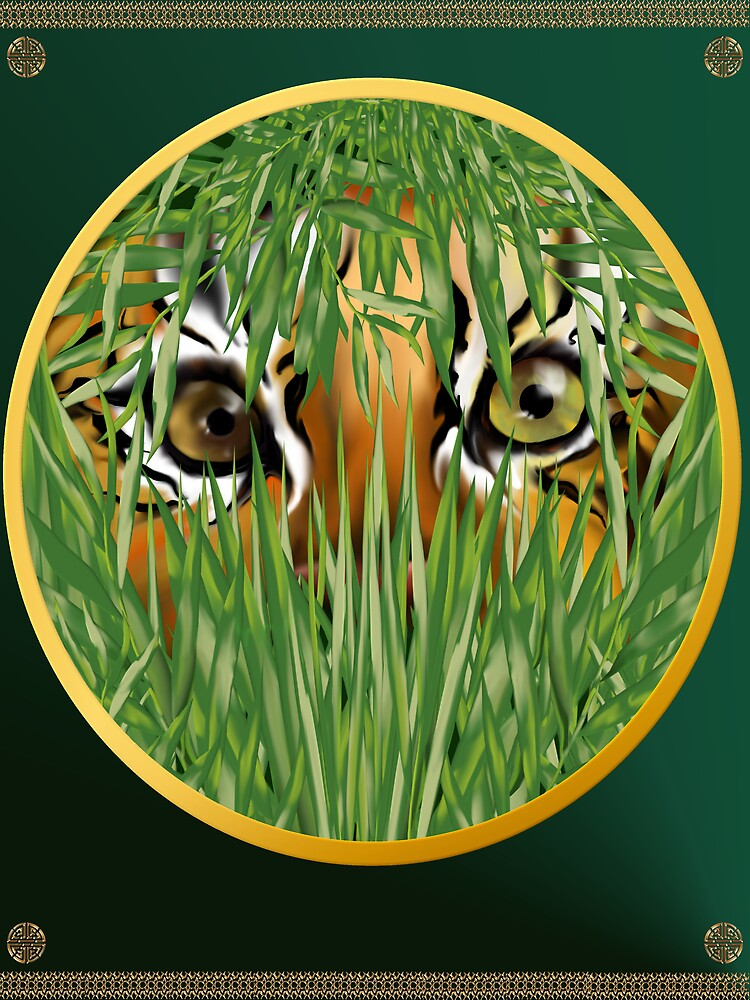 Tiger In The Grass by Lotacats