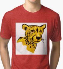 Cheetah portrait Tri-blend T-Shirt