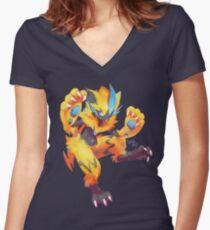 Zeraora Women's Fitted V-Neck T-Shirt