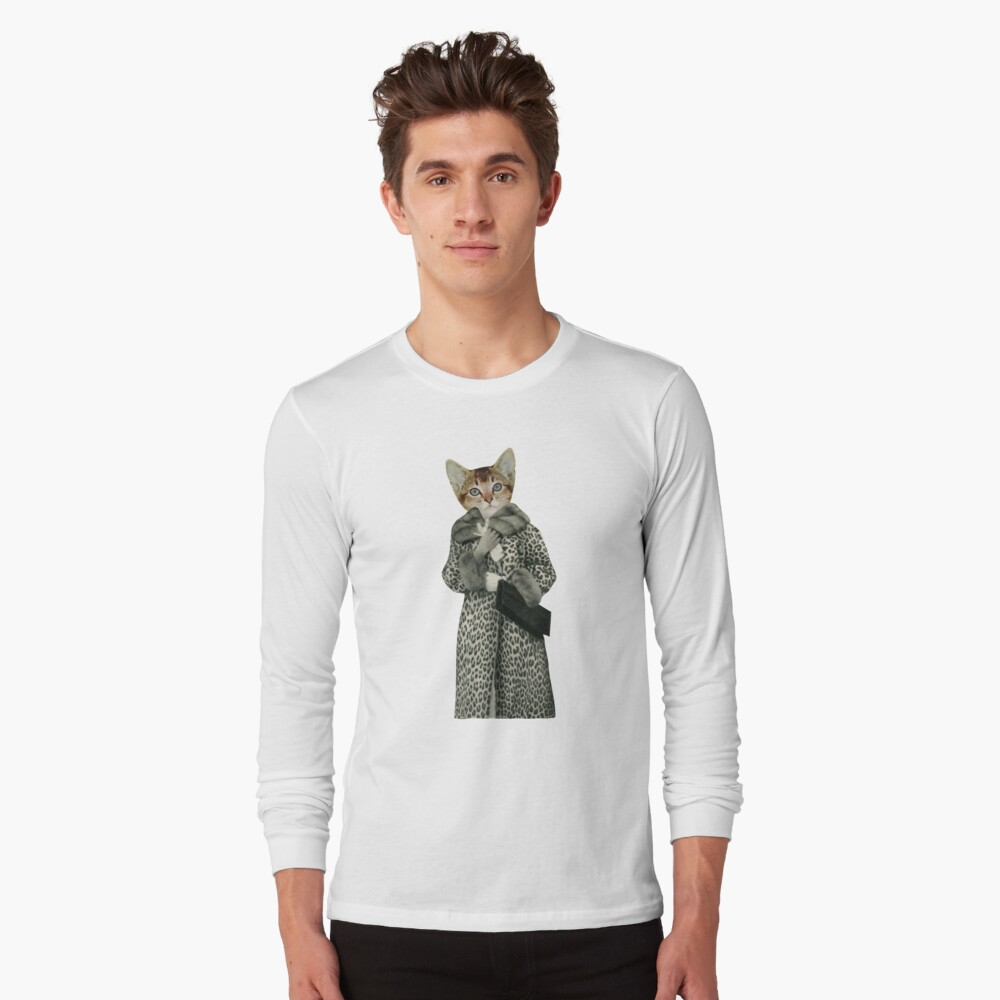 Kätzchen gekleidet als Katze Langarmshirt