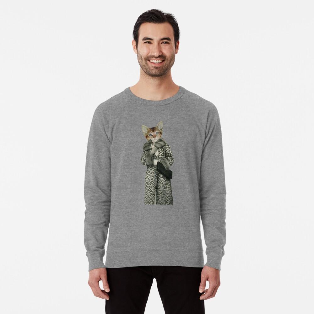 Kätzchen gekleidet als Katze Leichter Pullover