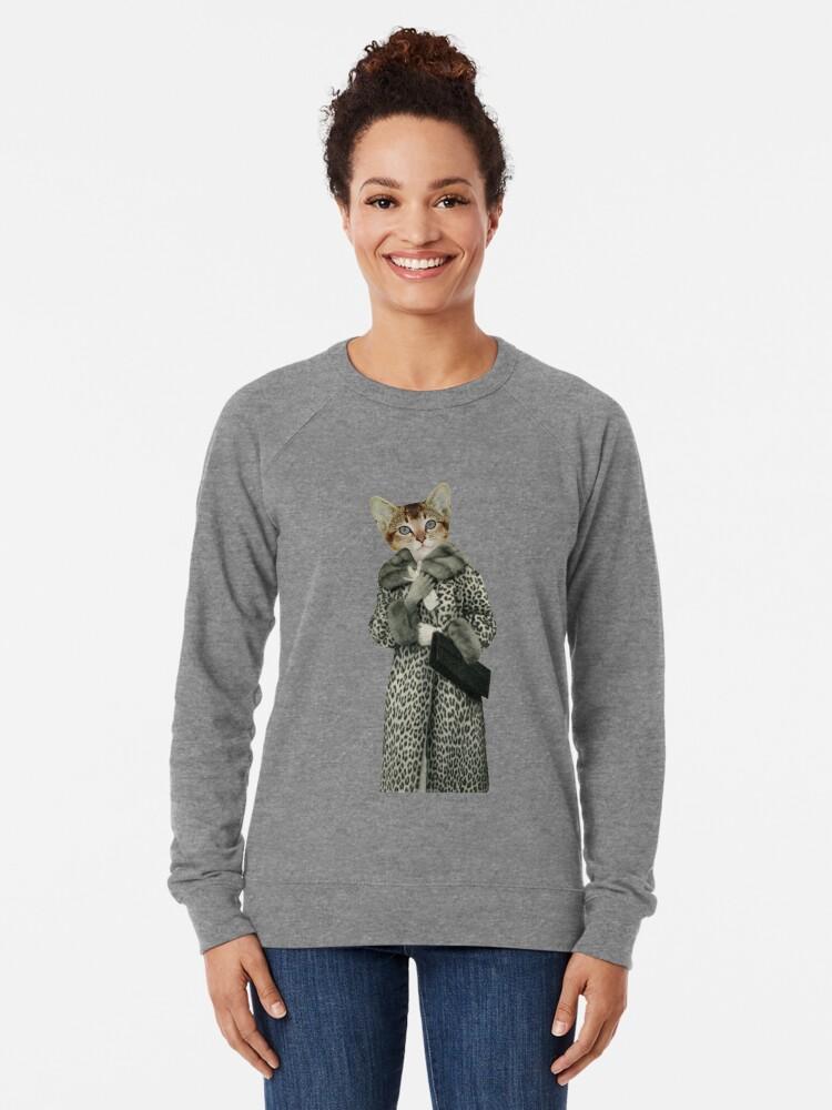 Alternative Ansicht von Kätzchen gekleidet als Katze Leichter Pullover