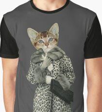 Kitten Dressed as Cat Graphic T-Shirt
