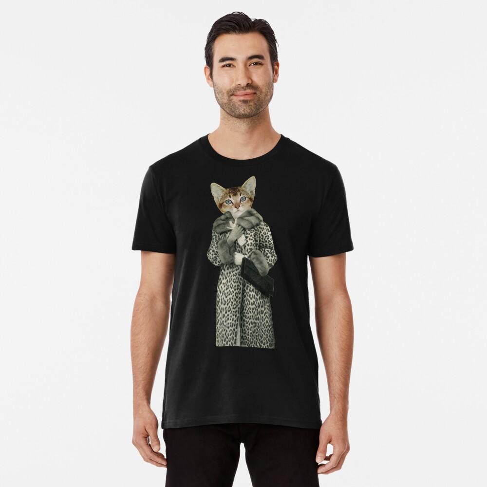 Kätzchen gekleidet als Katze Premium T-Shirt