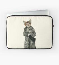 Kitten Dressed as Cat Laptop Sleeve