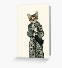 Kitten Dressed as Cat Greeting Card