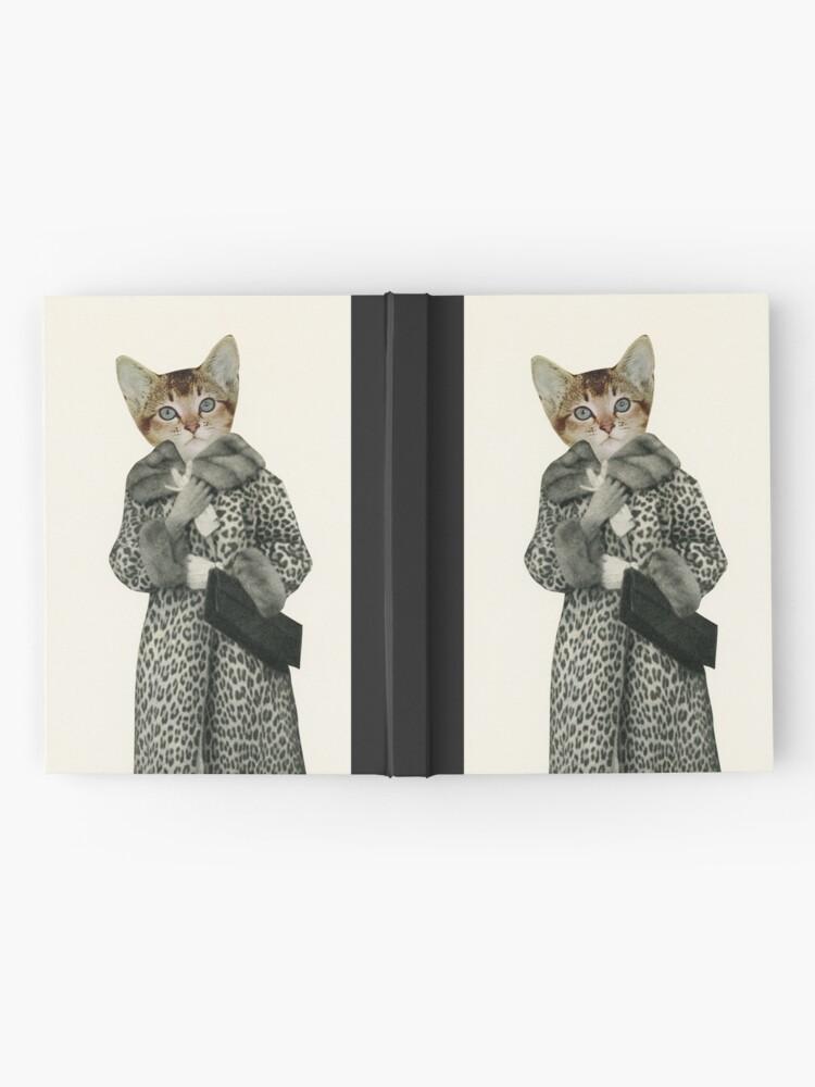 Alternative Ansicht von Kätzchen gekleidet als Katze Notizbuch