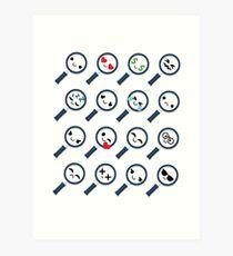 Magnifying Emoji   Art Print