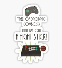 Try out a fight stick! Sticker