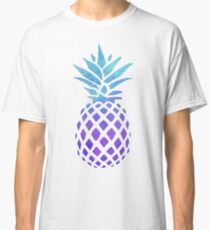 PINEAPPLE BLUE PURPLE WATERCOLOR Classic T-Shirt