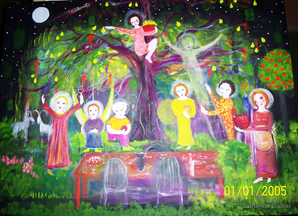 Under dads Pear Tree Christmas 2007 by catherine walker