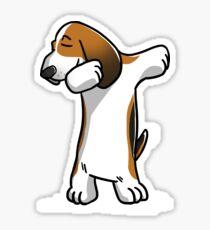 Funny Dabbing Basset Hound Dog Sticker