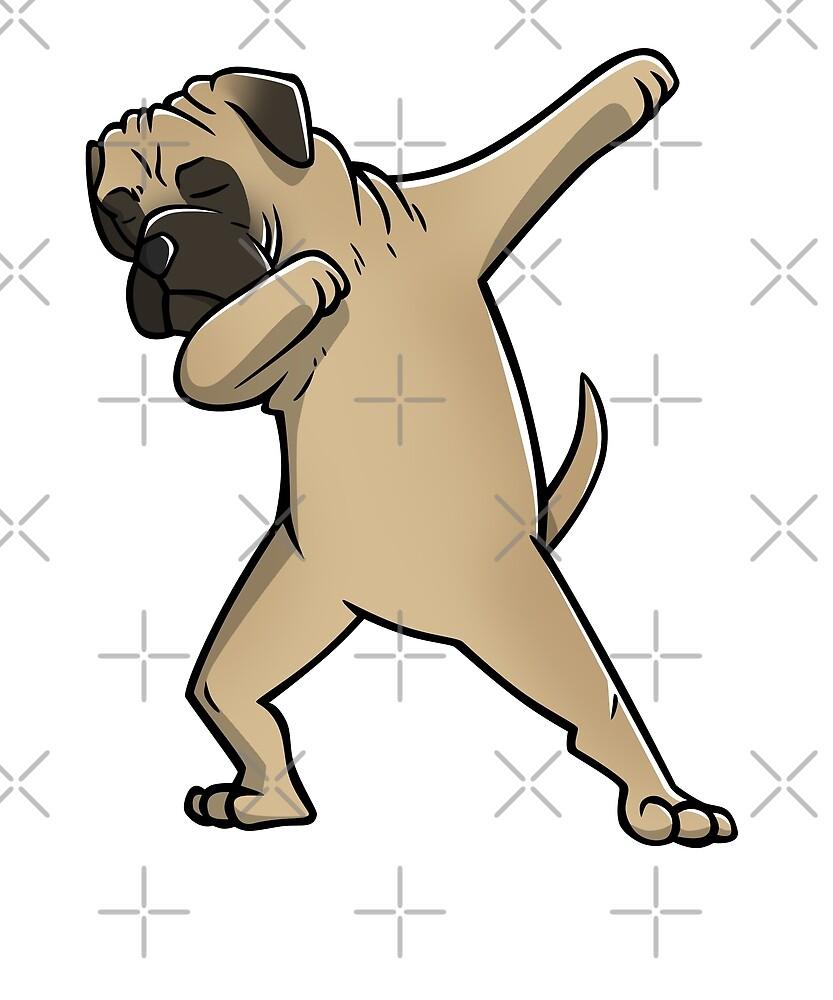 Quot Funny Dabbing Bullmastiff Dog Quot By Ilovepaws Redbubble