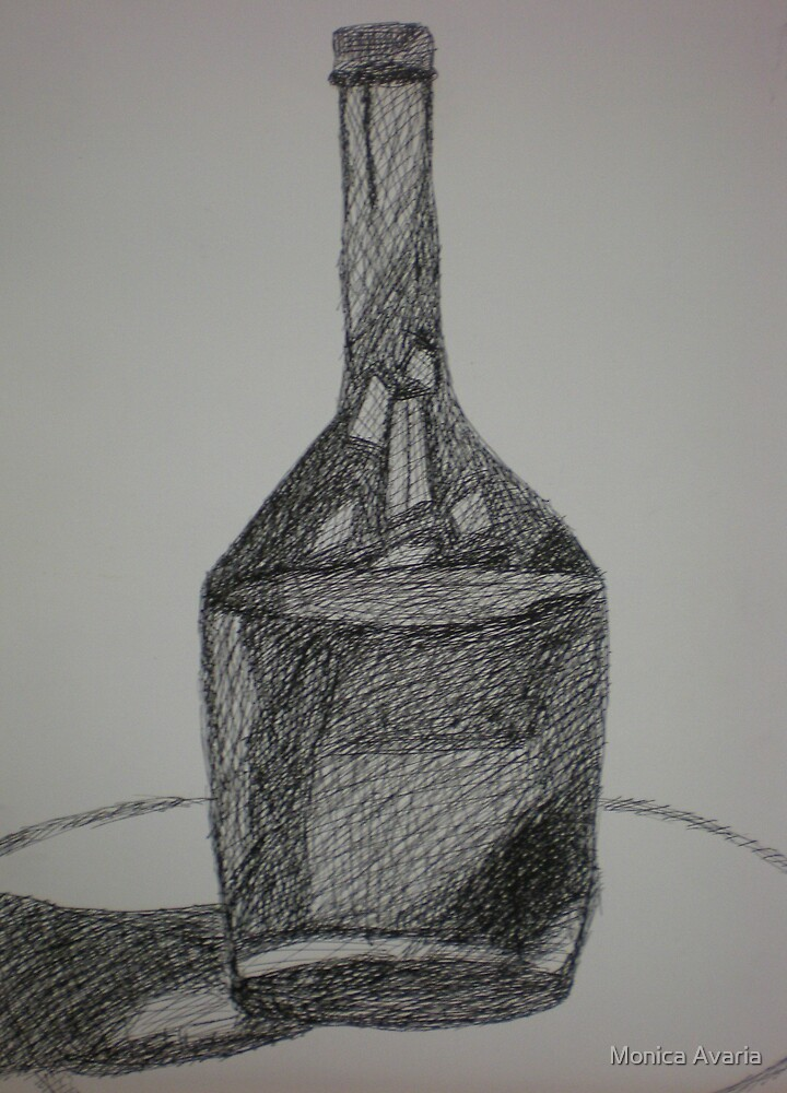 wine bottle by Monica Avaria