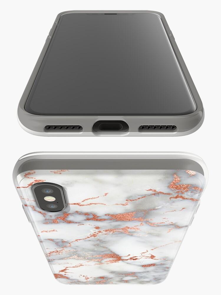 Alternative Ansicht von Rose Gold Glitter Weißer Marmor iPhone-Hülle & Cover