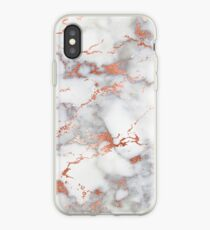Rose Gold Glitter White Marble iPhone Case