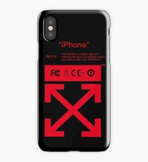 Red Off White iPhone Case/Skin