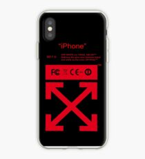 Red Off White iPhone Case